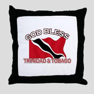 Patriotic Trinidad & Tobaco designs Throw Pillow
