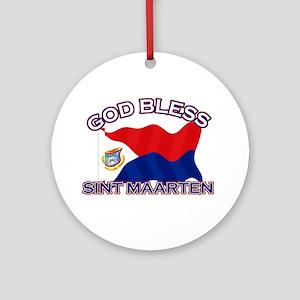 Patriotic Sint Maarten designs Ornament (Round)