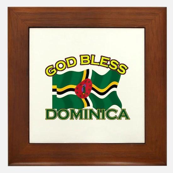 Patriotic Dominica designs Framed Tile