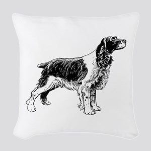 Springer Spaniel Woven Throw Pillow