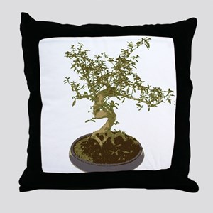 Bonsai Graphic Throw Pillow