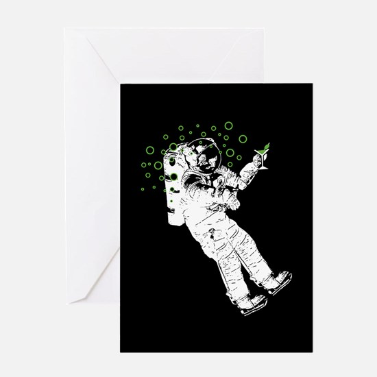 Tipsy Astronaut Greeting Card