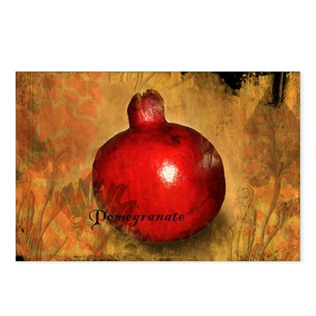 Botanical Pomegranate Postcards (Package of 8)