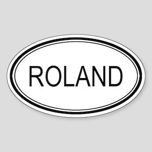 Roland Oval Design Oval Sticker