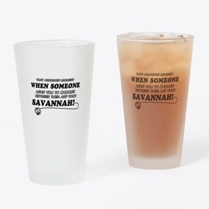 Savannah designs Drinking Glass