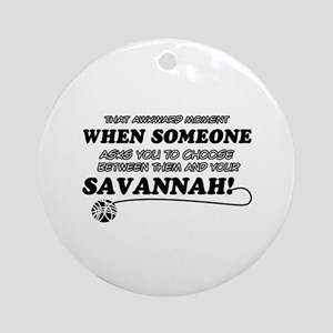 Savannah designs Ornament (Round)