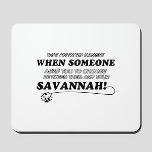 Savannah designs Mousepad