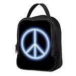 Blue Peace Symbol Neoprene Lunch Bag