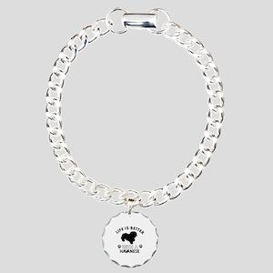Funny Havanese lover designs Charm Bracelet, One C
