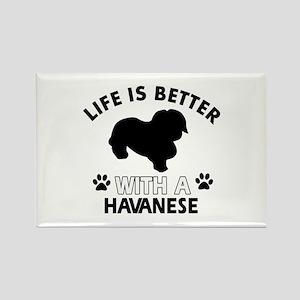 Funny Havanese lover designs Rectangle Magnet