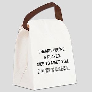 Player Meet Coach Canvas Lunch Bag