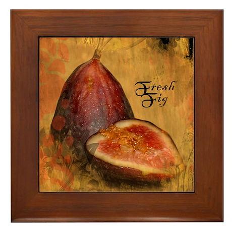 Botanical Fresh Fig Framed Tile