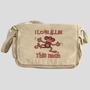 I love Allie this much Messenger Bag