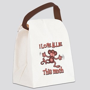 I love Allie this much Canvas Lunch Bag