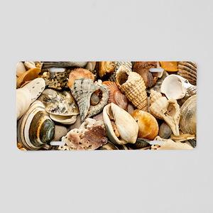 Seashells Aluminum License Plate