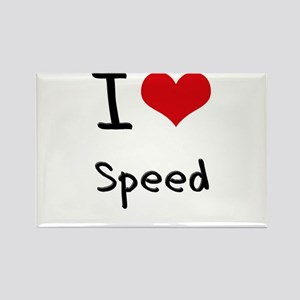 I love Speed Rectangle Magnet