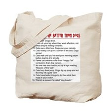 Cats Are Better Than Dogs Tote Bag