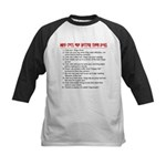 Cats Are Better Than Dogs Kids Baseball Jersey
