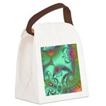 Jeweled Staircase Abstract Canvas Lunch Bag