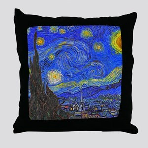 van Gogh: The Starry Night Throw Pillow