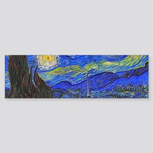 van Gogh: The Starry Night Bumper Sticker