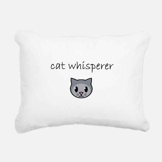 cat whisperer.PNG Rectangular Canvas Pillow