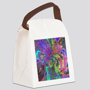 Glowing Burst of Color Canvas Lunch Bag