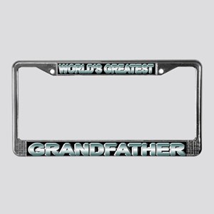 World's greatest grandfather License Plate Frame