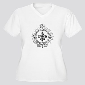 Vintage French Fleur de lis Plus Size T-Shirt