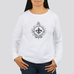 Vintage French Fleur de lis Long Sleeve T-Shirt