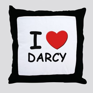 I love Darcy Throw Pillow
