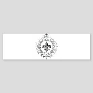 Vintage French Fleur de lis Bumper Sticker