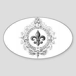 Vintage French Fleur de lis Sticker