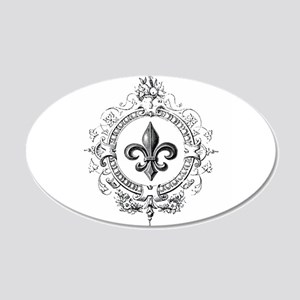Vintage French Fleur de lis Wall Decal