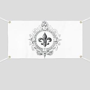 Vintage French Fleur de lis Banner