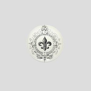 Vintage French Fleur de lis Mini Button