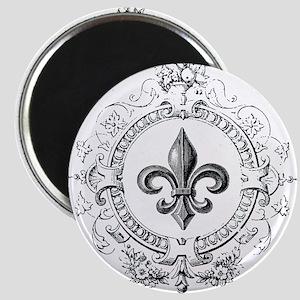 Vintage French Fleur de lis Magnet