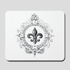 Vintage French Fleur de lis Mousepad