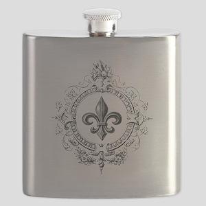 Vintage French Fleur de lis Flask