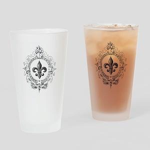 Vintage French Fleur de lis Drinking Glass