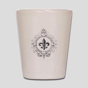 Vintage French Fleur de lis Shot Glass