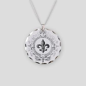 Vintage French Fleur de lis Necklace