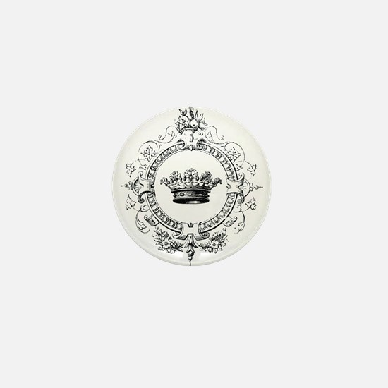 Vintage French crown Mini Button