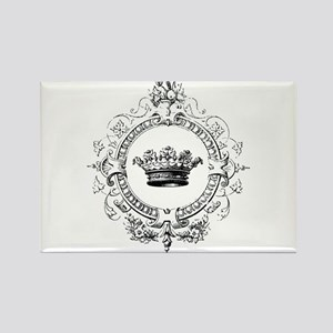 Vintage French crown Rectangle Magnet