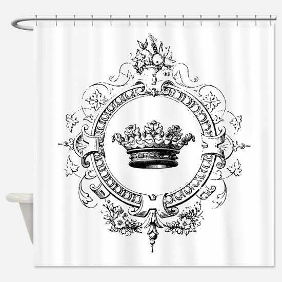 Vintage French crown Shower Curtain