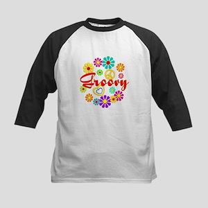 Flowered Groovy Kids Baseball Jersey