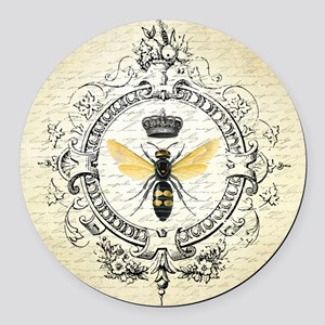 Vintage French Queen Bee Round Car Magnet