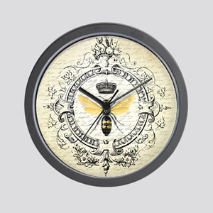 Vintage French Queen Bee Wall Clock