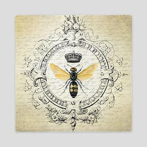Vintage French Queen Bee Queen Duvet
