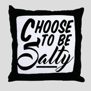 Salty Meme Throw Pillow